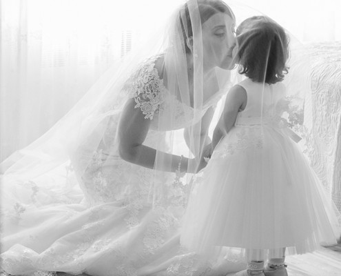 Mariage Montreal mariee avec fille